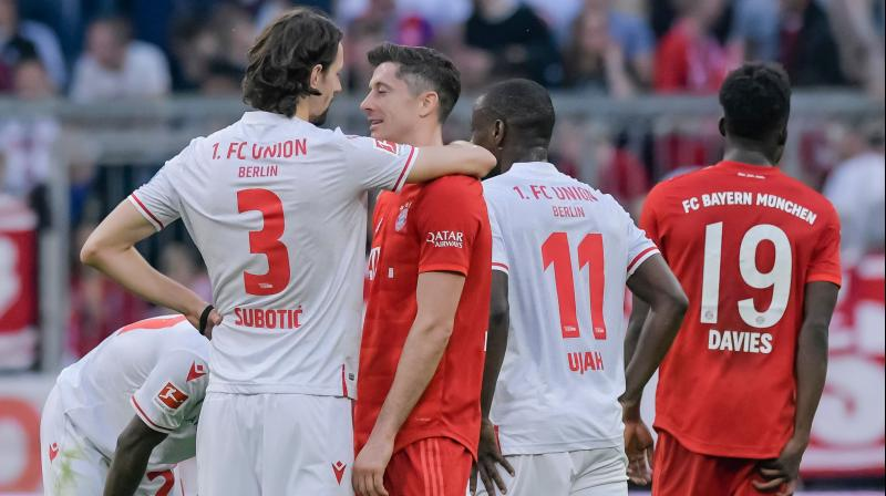 Bayern Munich's Robert Lewandowski on Saturday became the first player in the history of Bundesliga to score in the first nine games of a season. (Photo:AFP)