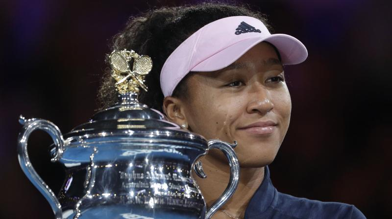 Japan's tennis star Naomi Osaka on Friday said she is splitting with her coach Jermain Jenkins. (Photo: AP)