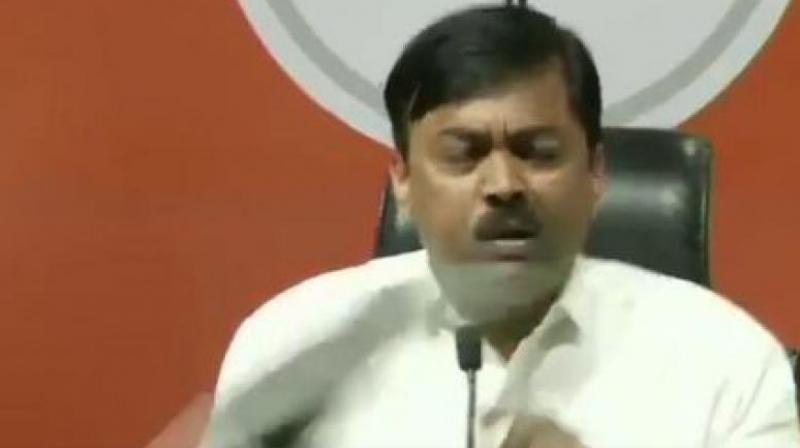 Rajya Sabha member G.V.L. Narasimha Rao (Photo: ANI twitter)