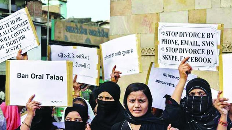 "Article 3 rightly declares that ""any pronouncement of talaq by a Muslim husband upon his wife, by words, either spoken or written or in electronic form or in any other manner whatsoever, shall be void and illegal""."