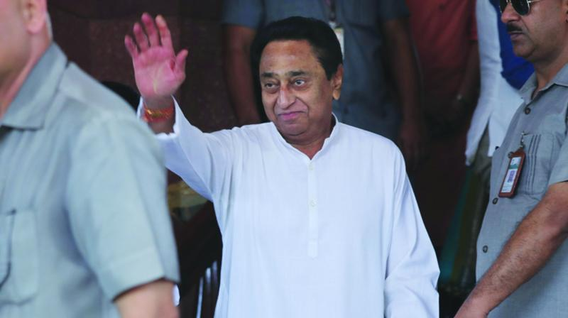 A file photo of Madhya Pradesh chief minister Kamal Nath during a visit to Delhi
