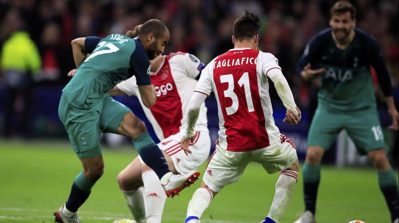 Ajax skipper Matthijs de Ligt's fifth-minute header and a superb 35th minute effort by Hakim Ziyech put Ajax 3-0 ahead on aggregate by halftime at a raucous Johan Cruyff Arena. (Photo: AP)