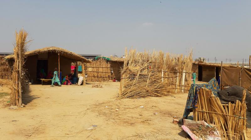 Pak Hindu migrants at a refugee camp in New Delhi