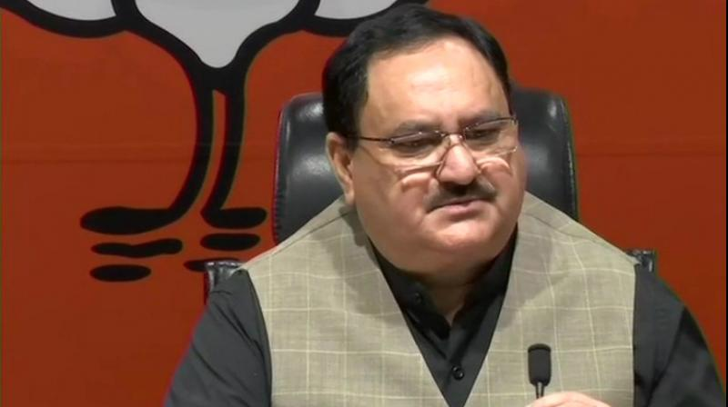 Addressing a press conference at the party headquarters in New Delhi, he said it was a precedent to present a report card on completion of first 100 days but 'now we have started it at the halfway mark'. (Photo: Twitter | ANI)