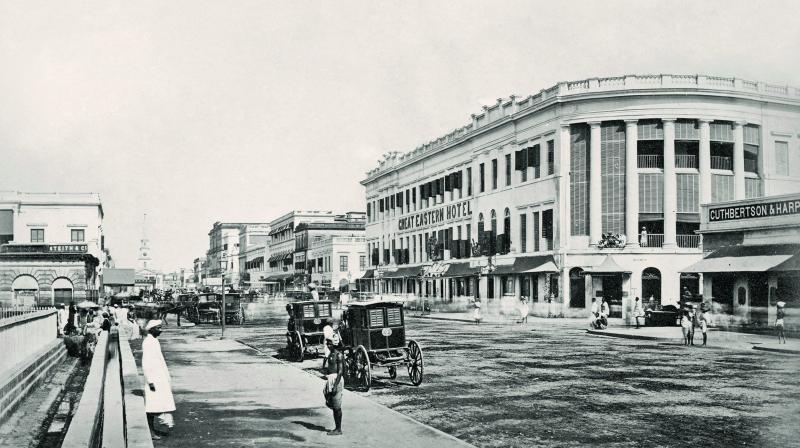 Kolkata (formerly Calcutta), Old Court House Street, 1867