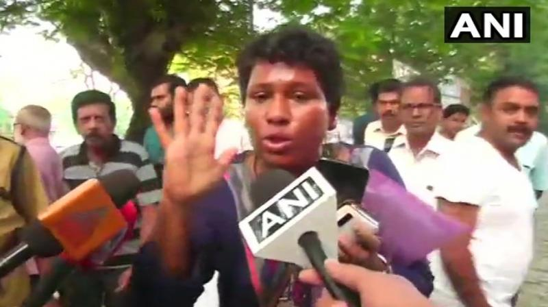 Ammini and Desai had reached the Kochi commissioner office to seek police security for their visit after arriving at the Kochi International Airport in the wee hours of Tuesday along with five other women. (Phtoo: ANI)