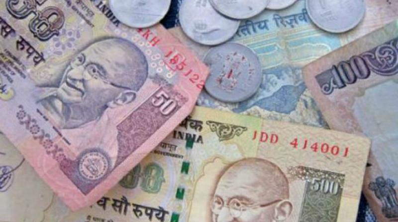 Rupee had gained 28 paise yesterday.