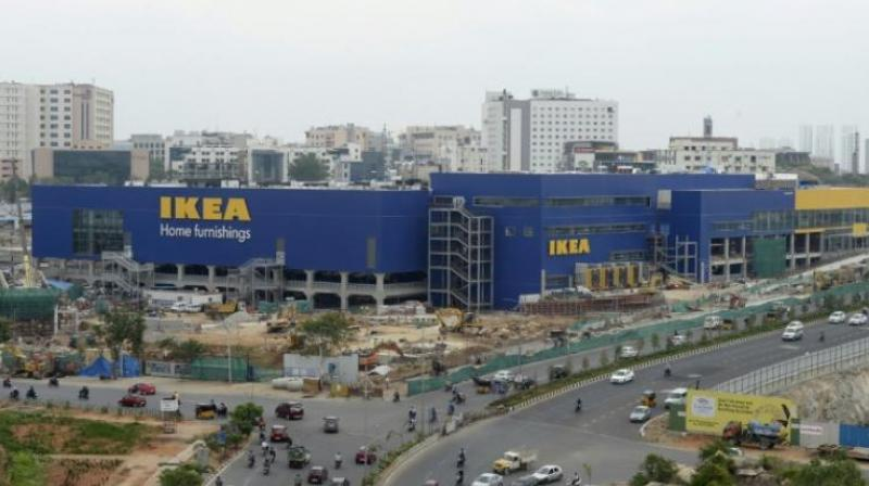 IKEA has already spent close to USD 750 million procuring Indian sites for 4 stores, including the massive, new 400,000-square-feet outlet in Hyderabad. (Photo: AFP)