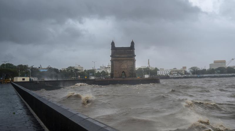Strong sea waves near the Gateway of India due to Cyclone Tauktae approaching the coasts, in Mumbai, Monday, May 17, 2021. As per weather department the Cyclone Tauktae. (PTI)