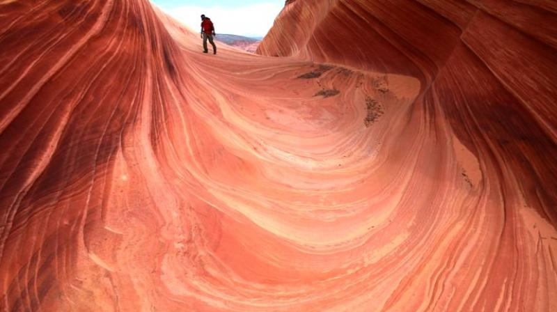 The limit is designed to protect the delicate sandstone environment and create a peaceful solitude. (Photo: AP)