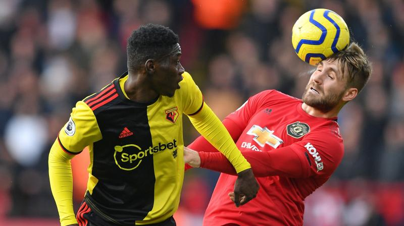 Senegalese winger Ismaila Sarr was then tripped by Manchester United's usually reliable Aaron Wan-Bissaka and earned the penalty from which Troy Deeney doubled Watford's lead in the 54th minute, sending David De Gea the wrong way and blasting into the net. (Photo:AFP)