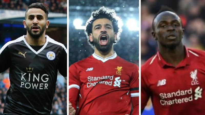 Liverpool pair Sadio Mane and Mohamed Salah, plus Riyad Mahrez from Manchester City, were named as the three candidates for this year's African Footballer of the Year award, to be decided next month. (Photo:AFP)