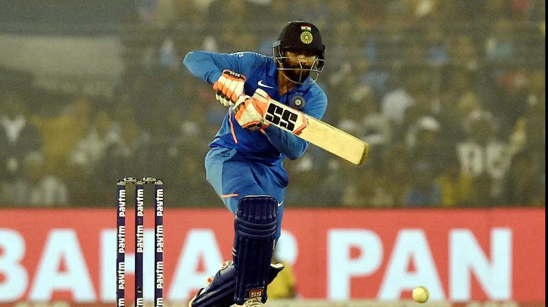 BCCI president Sourav Ganguly says Ravindra Jadeja's improved batting will be very important for the Indian team going into the future after the all-rounder played a crucial cameo in the third ODI against the West Indies in Cuttack. (Photo:PTI)
