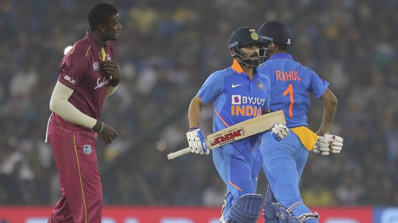 Virat Kohli starred with the bat as India defeated West Indies by four wickets in the third and final ODI of the three-match series here at Barabati Stadium on Sunday. (Photo:AP)
