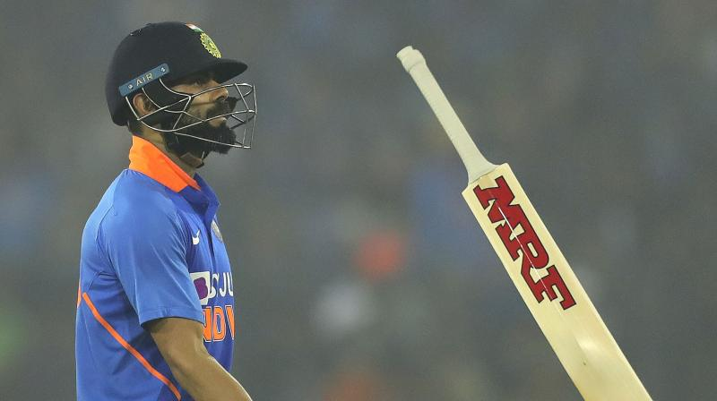 Indian skipper Virat Kohli on Sunday became the second most run-scorer in ODIs in 2019. The 31-year-old now has 1,377 runs in the 50-over format after playing a knock of 85 runs in the series decider against the Caribbean while Hope has 1,345 runs to his name this year. (Photo:AP)