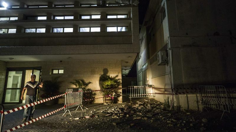 The seminary, in the town of Sderot, was empty at the time of the rocket attack as students had left to return to their homes elsewhere to celebrate the Jewish Sabbath, which begins on Friday with their families. (Photo: AP)
