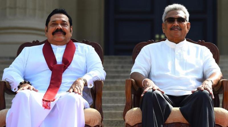 Sri Lankan President Gotabaya Rajapaksa (left) and Prime Minister Mahinda Rajapaksa. (AFP)
