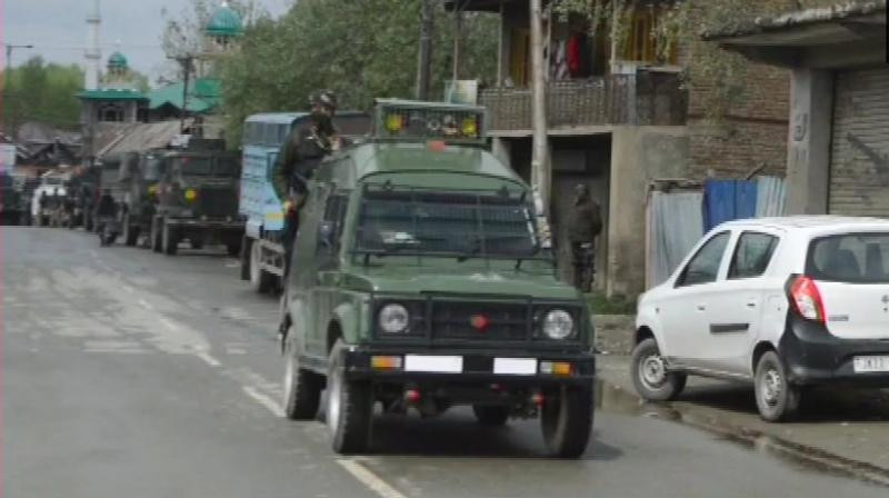 Security forces launched a cordon and search operation in the district's Khudwani area on Tuesday night, following information about presence of militants there, the officials said. (Photo: ANI | Twitter)