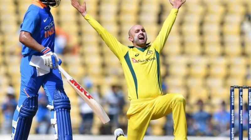 Australian pace spearhead Pat Cummins expects spinners of his team like Nathan Lyon to play a bigger role in the ODI series against India even though he is not expecting dust-bowls during a limited-overs assignment. (Photo:AFP)