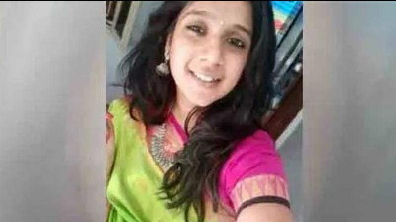 The woman has been identified as Subashree, who worked at an IT company, was on her two-wheeler on the Pallavaram-Thoraipakkam Radial Road when an unauthorised life-size hoarding knocked her down. (Photo: Social Media)