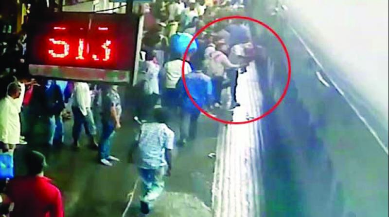 The daring rescue at Kalyan station was caught on CCTV.