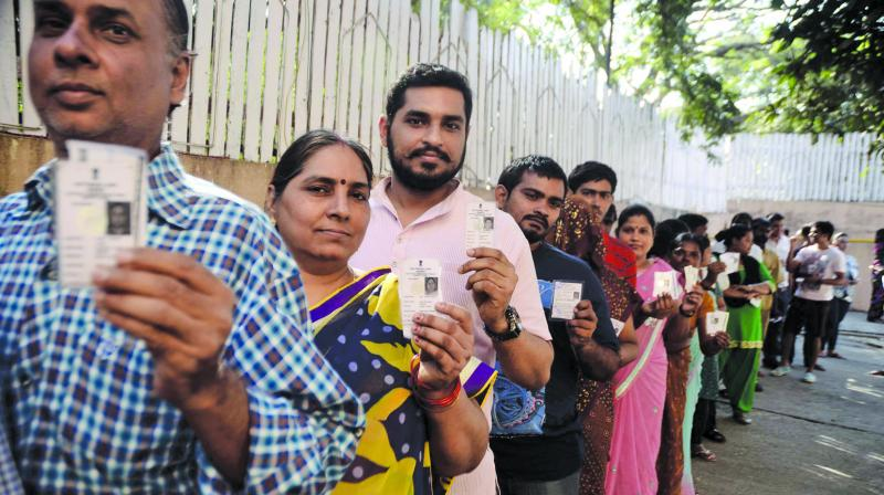 Elections for the 18 assembly segments where bypolls are being held saw a turnout of 55.97 per cent at 3 pm. (Image: File)
