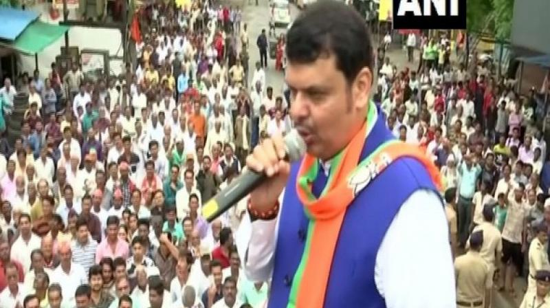 Maharashtra Chief Minister Devendra Fadnavis on Friday asked opposition parties to introspect why they have lost the people's trust instead of finding fault with Electronic Voting Machines (EVMs). (Photo: ANI)