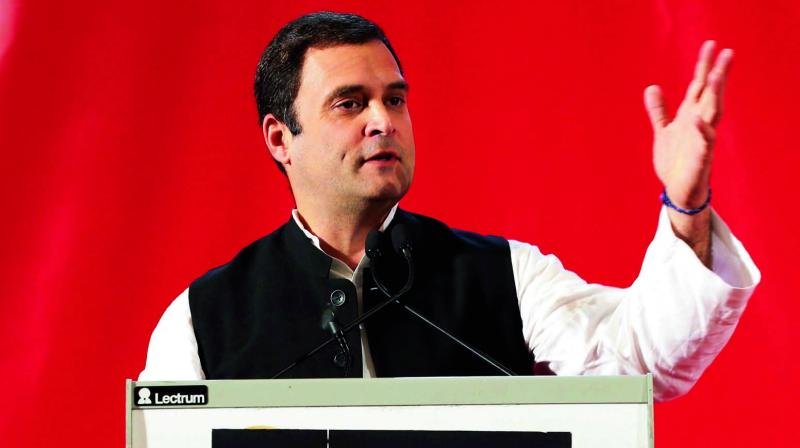 'We had the idea of having one tax and put those large number of items that are used by poor people and common man outside the GST. Cap the single tax at 18 per cent. That was our GST,' Rahul Gandhi said. (Photo: File)