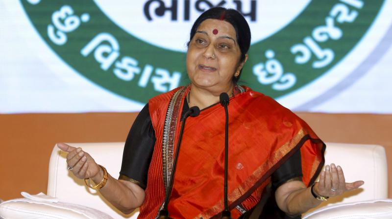 Union Minister for External Affairs Sushma Swaraj (Photo: PTI)