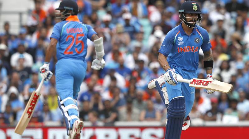 Skipper Virat Kohli, opener Shikhar Dhawan were among three Indian cricketers named in ICC Champions Trophy 2017 Team . (Photo: AP)