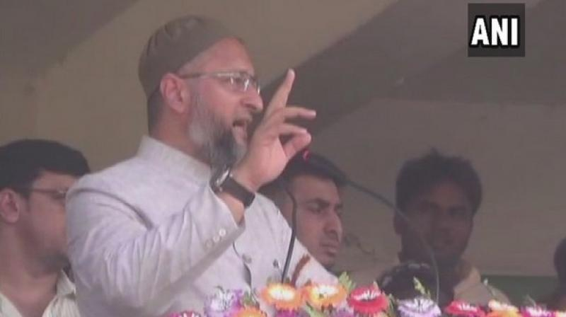 'There is no law preventing people from saying downright unconstitutional things, but why do Ramdev's ideas receive undue attention?' Owaisi tweeted. (Photo: ANI)
