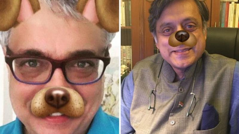 TMC MP Derek O'Brien and Congress leader Shashi Tharoor. (Photo: Twitter | ANI)