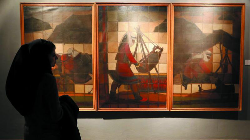 Exhibits at the Museum of Contemporary Art opened in central Tehran.