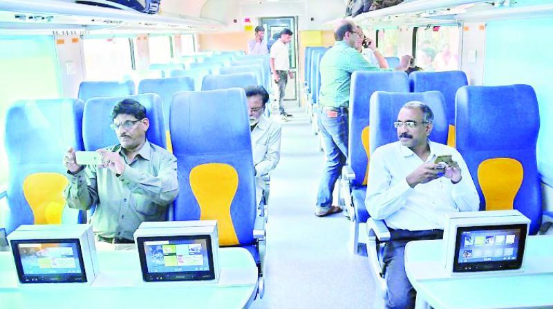 A file photo of the Goa-Mumbai Tejas Express.