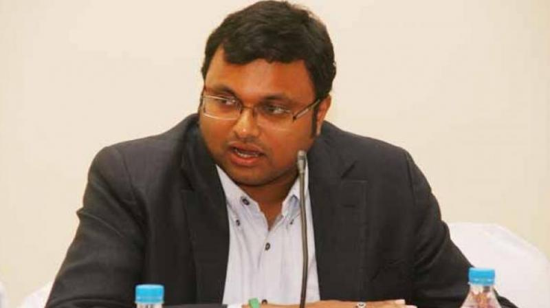 The SC said it is not interfering with the bail granted to Karti Chidambaram, but was leaving the question of law open -- on whether he can approach the high court when his application for bail was already pending before the trial court. (Photo: File | PTI)