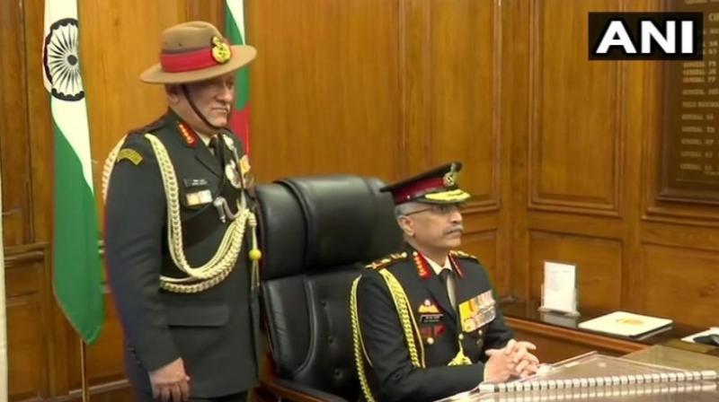 Gen Naravane, who was serving as vice chief of the Army, succeeds Gen Bipin Rawat, appointed the country's first Chief of Defence Staff, a post created to bring in operational convergence among the three services. (Photo: ANI)
