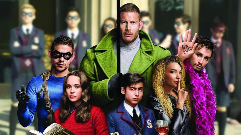 Seven children born on this day are adopted by the mysterious billionaire Sir Reginald Hargreeves to form a group of gifted superheroes called the The Umbrella Academy.