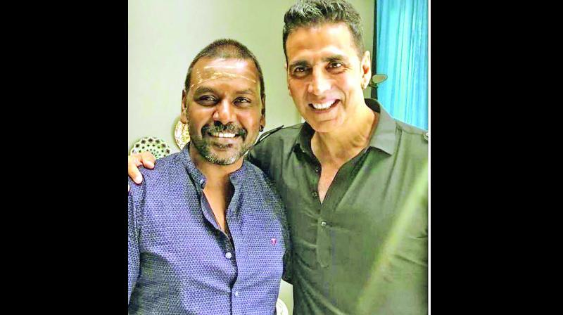 Raghava Lawrence with Akshay Kumar