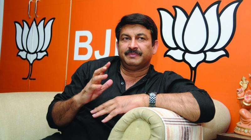 Delhi BJP president Manoj Tiwari (Photo: G.N. Jha)