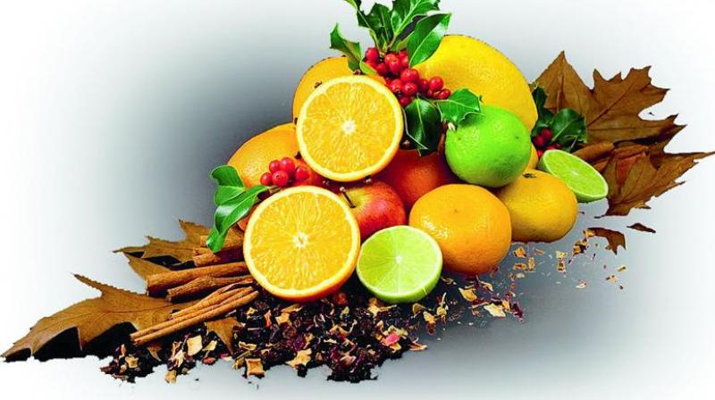 Citrus fruits share the same kinds of pulp, thick rinds and are widely known for their distinctive flavour, vivid colour and mega vitamin C content.
