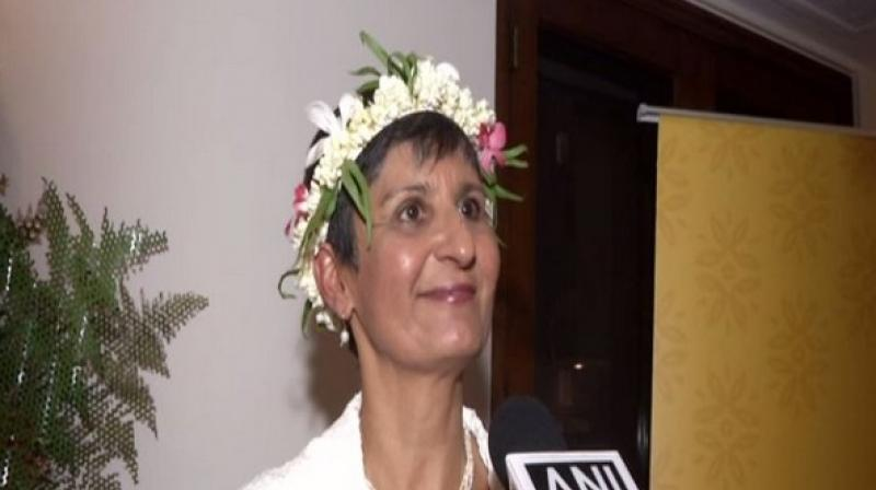 Speaking to ANI during the event, Australian High Commissioner to India Harinder Sidhu highlighted the importance of people to people links between India and the countries in the Pacific region which received a boost through an event like Namaste Pacific. (Photo: ANI)