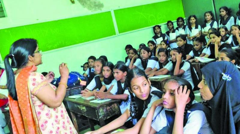 On July 31, Directorate of School Education had issued a circular which directed senior officials from various districts to identify schools where students were being made to wear wrist bands to segregate them on the basis of caste.  (Representational Image)