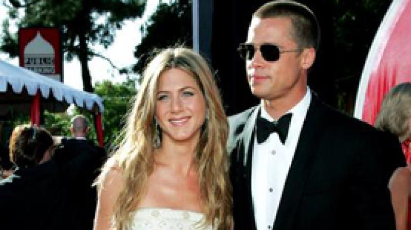 Jennifer Aniston-Brad Pitt. (Photo: ANI)