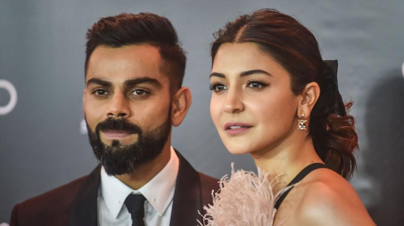 Indian cricketer Virat Kohli (Left) and Bollywood actress-producer Anushka Sharma. Kohli announced on twitter that the couple were