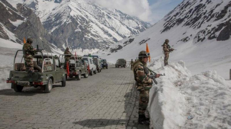 Chinese troops made a second failed attempt on Monday to capture the peaks on the southern banks of Pangong Tso. (PTI Photo)