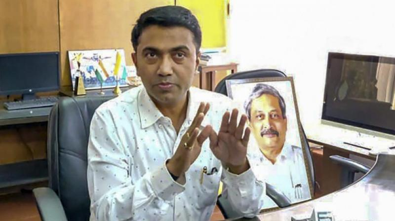 Goa CM Pramod Sawant tests coronavirus positive. (PTI Photo)