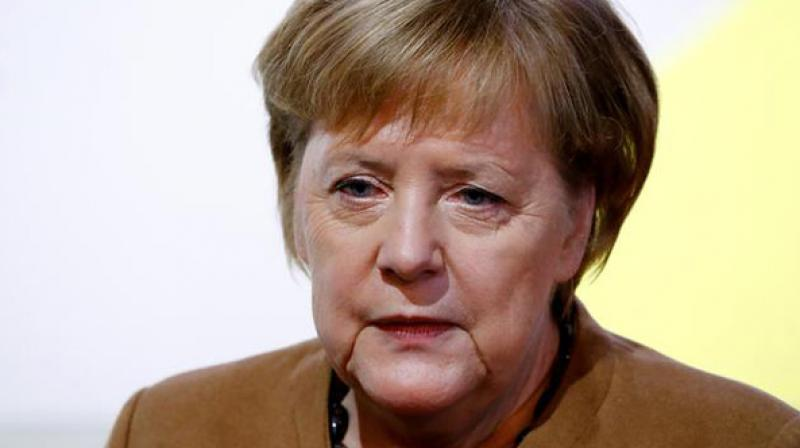 On June 27, Merkel was seen shaking for the second time while she was attending an event with German President Frank-Walter Steinmeier.  (Photo: File)