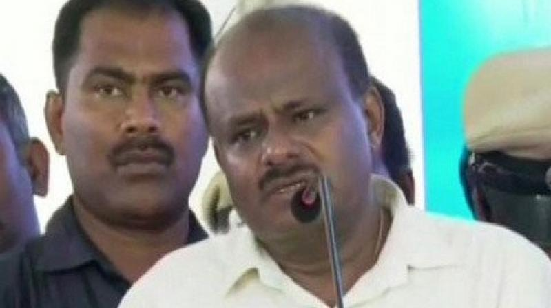 "JD (S) leader and former Karnataka Chief Minister HD Kumaraswamy said that it would be much easier for the Congress to enter into an alliance with BJP rather than going with Shiv-Sena as the former has ""soft-Hindutva"" face while Shiv Sena is known for its ""Hard-Hindutva"" stance. (Photo: File)"