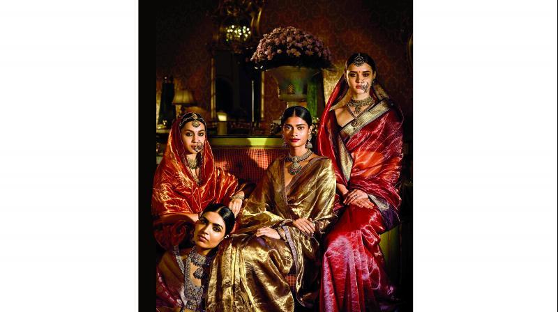 Models in Sabyasachi sarees