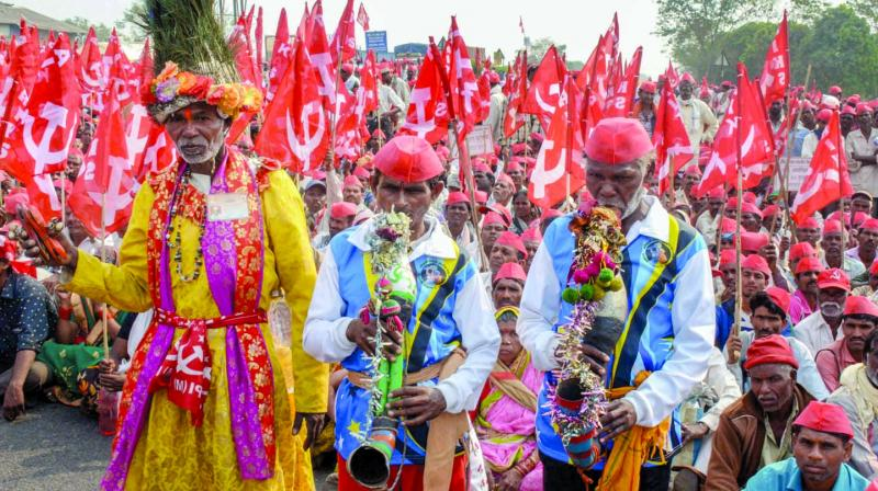 The march began in Nashik on March 6 and will reach Vidhan Bhavan on Monday. (Photo: PTI)